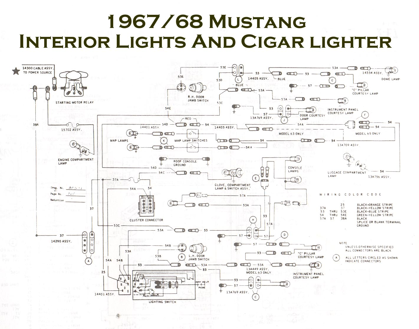 1969 Mustang Fuse Box Wiring Diagram 2003 Gt 1967 Simple Diagram1967 All